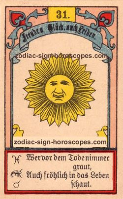 The sun, monthly Virgo horoscope January